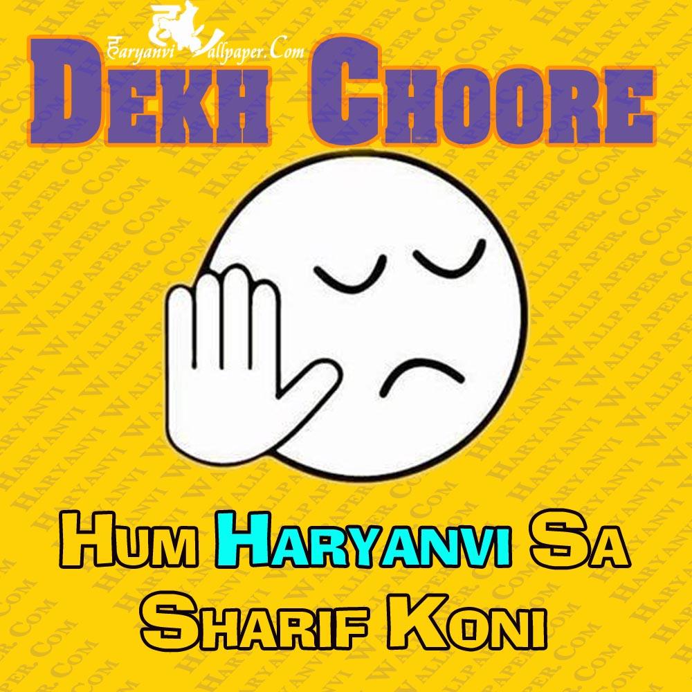 Dekh Choore - hum haryanvi sa sharif k oni copy