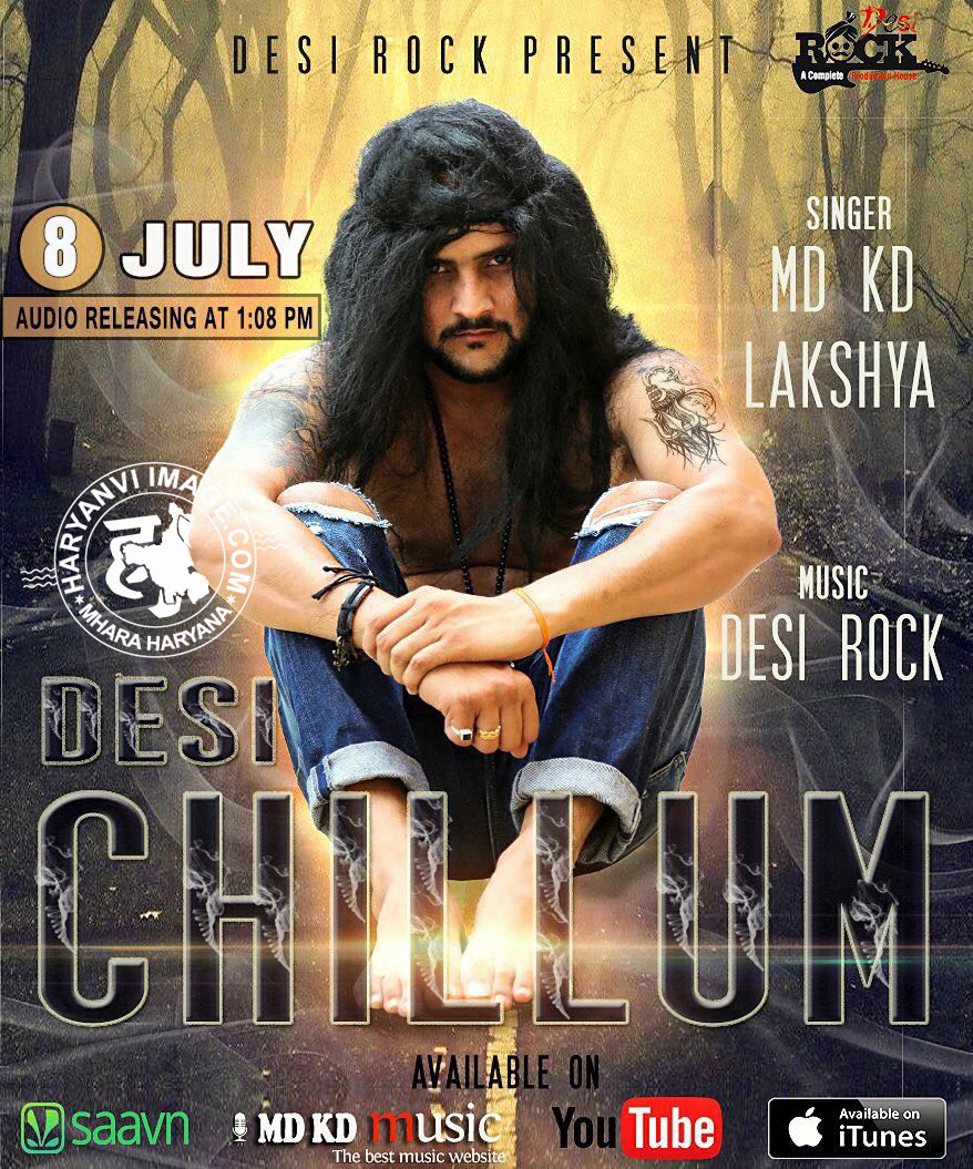 Desi Chillum Song Poster - MD KD