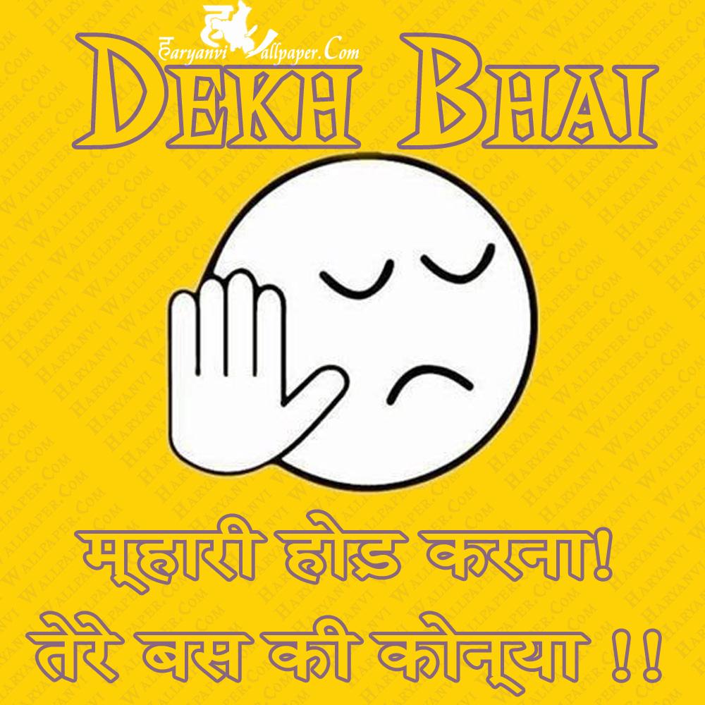 Dekh Bhai mhari hood na kari ja tere te