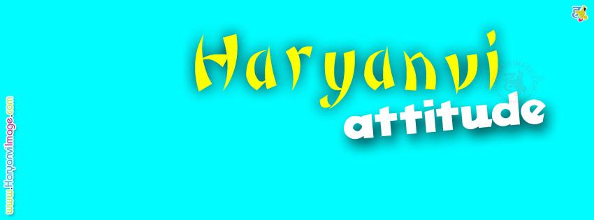 Haryanvi Attitude FB Cover