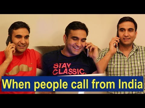 When people call me in America By Lalit Shokeen Comedy