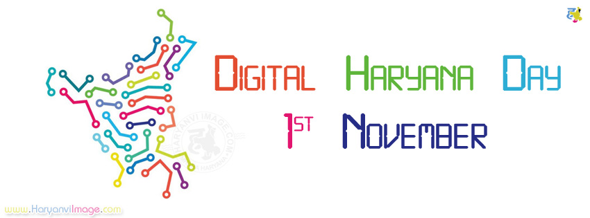 Digital Haryana Day FB Cover