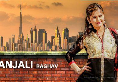 Anjali Raghav Black Suit Wallpaper